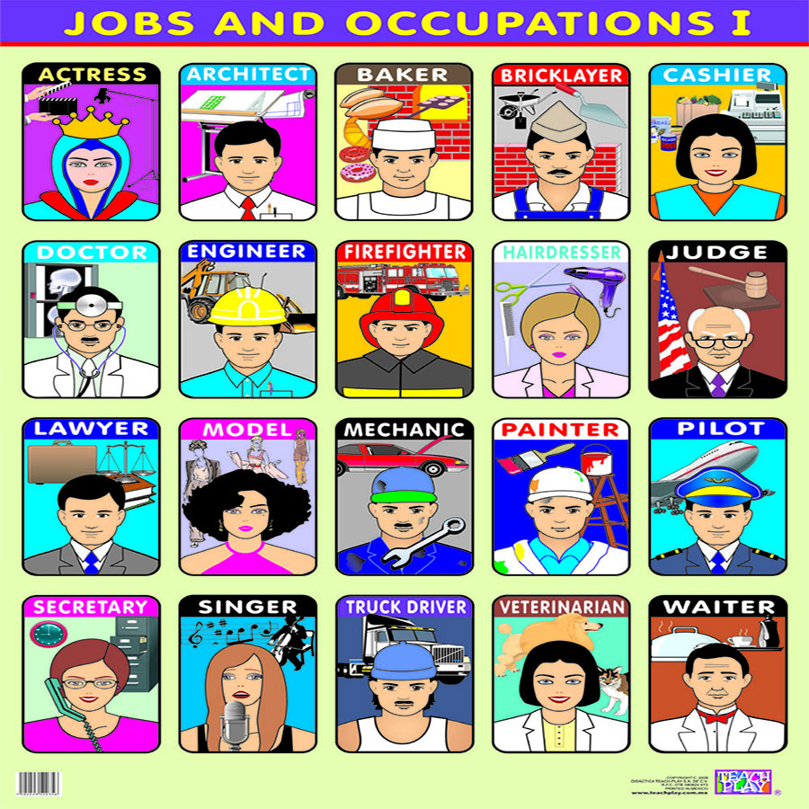 POSTER JOBS AND OCCUPATIONS I - MATERIAL DIDACTICO PARA INGLES
